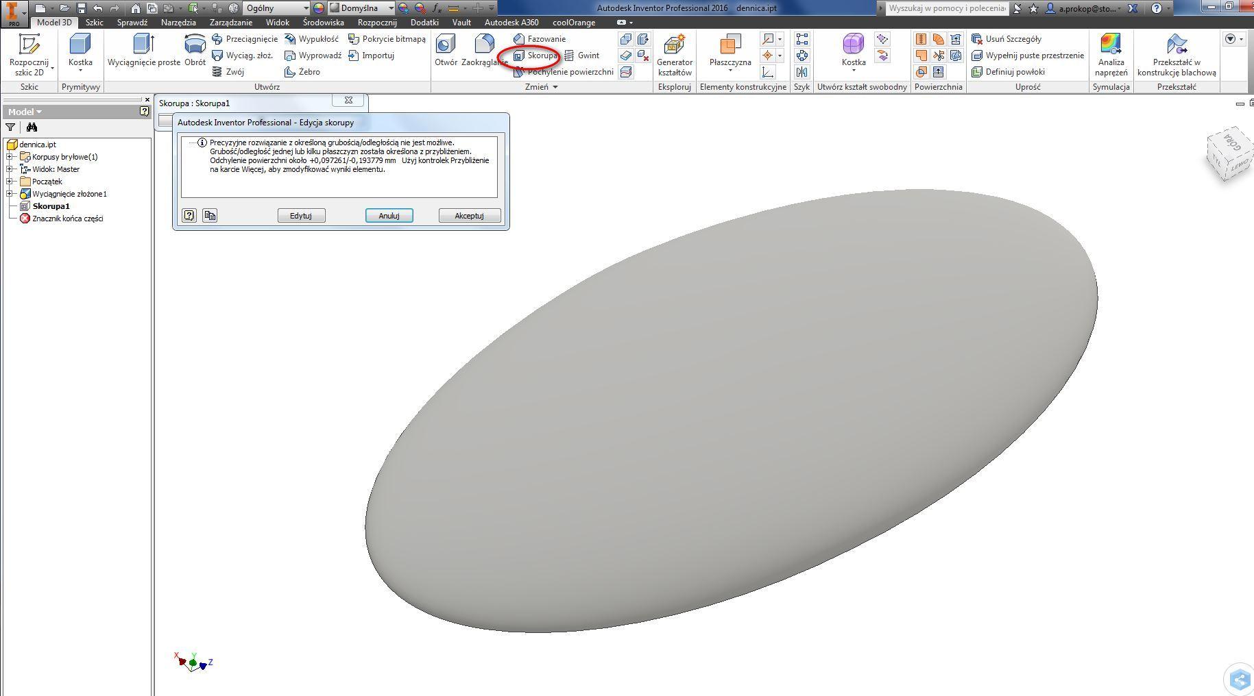 Elliptical ends - Autodesk Community- Inventor