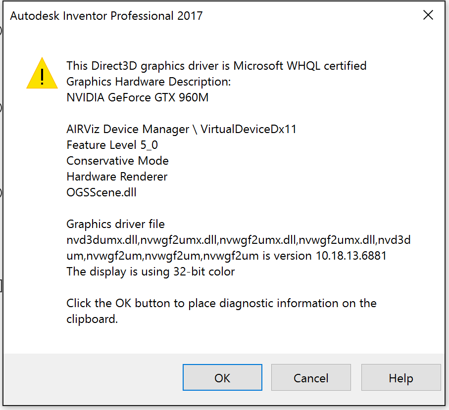 Solved: Window flicker on mouse movement: Windows 10, inventor 2017