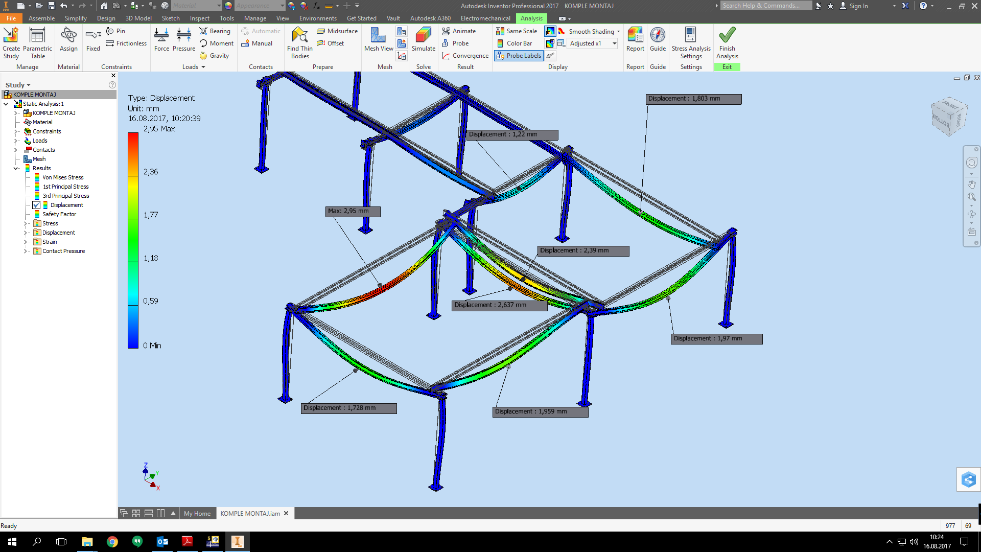 Inventor 2017 Stress Analysis stops without any result - Autodesk ...