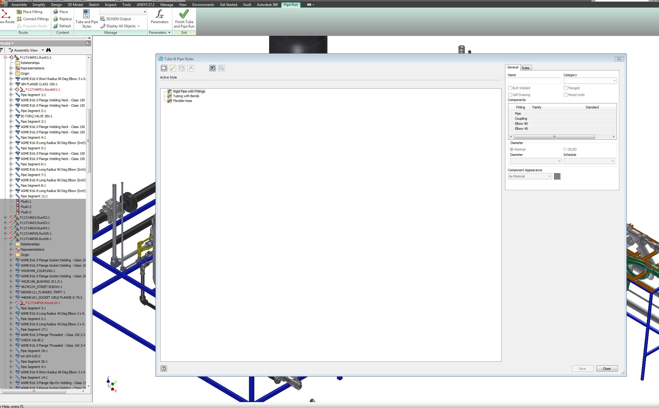 Inventor 2015 Missing Tube and Pipes style - Autodesk Community