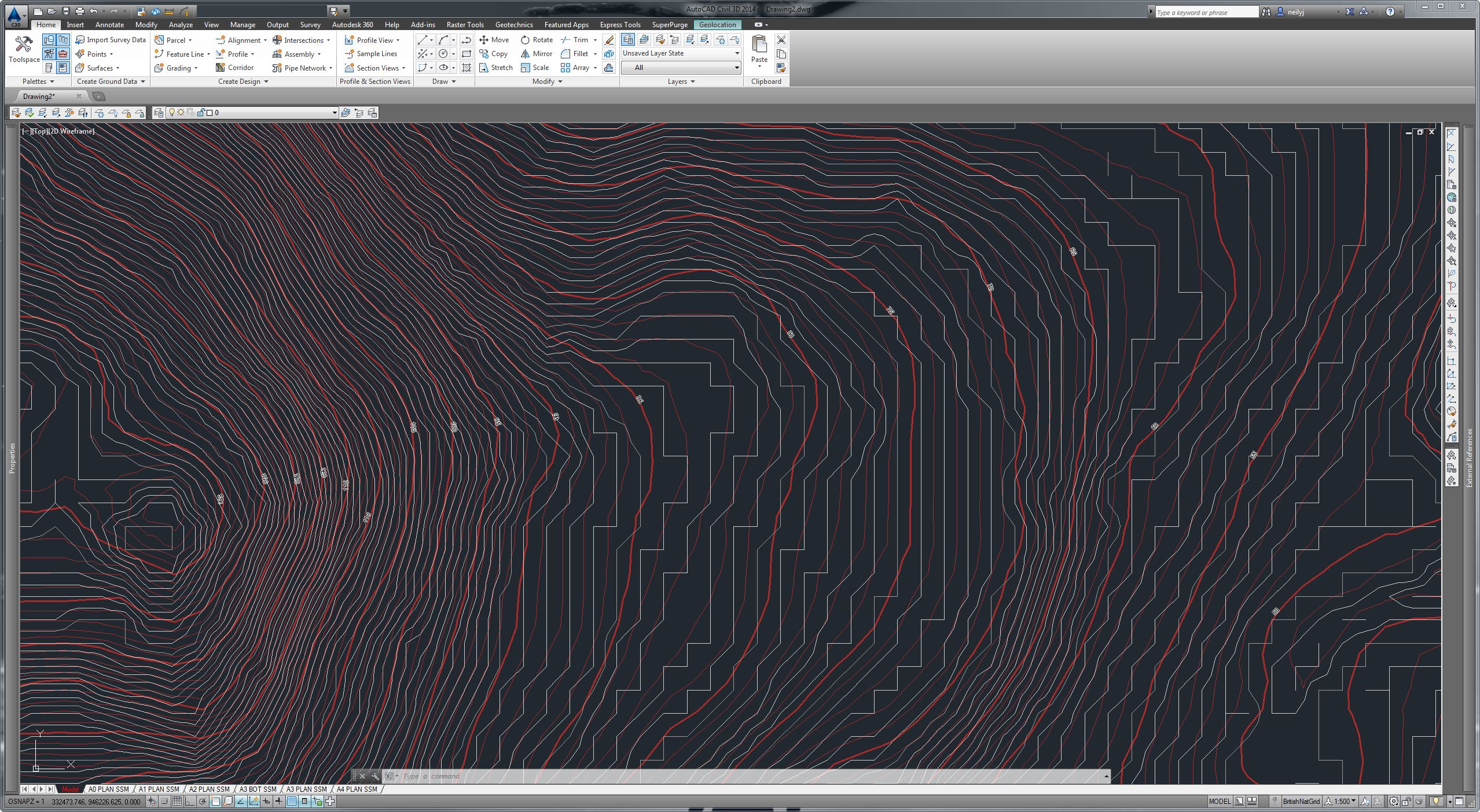 Contour Line Drawing In Autocad : Solved export contour layer for use in civil d autodesk