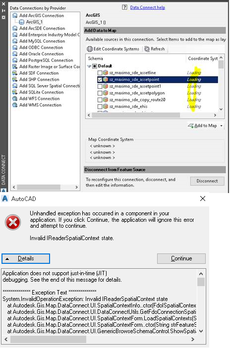 SDE Enterprise connection - coordinate system error