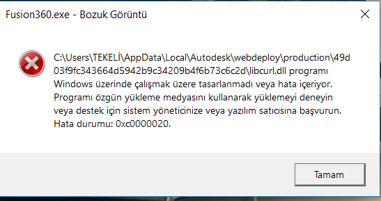 libcurl dll - Autodesk Community- Fusion 360