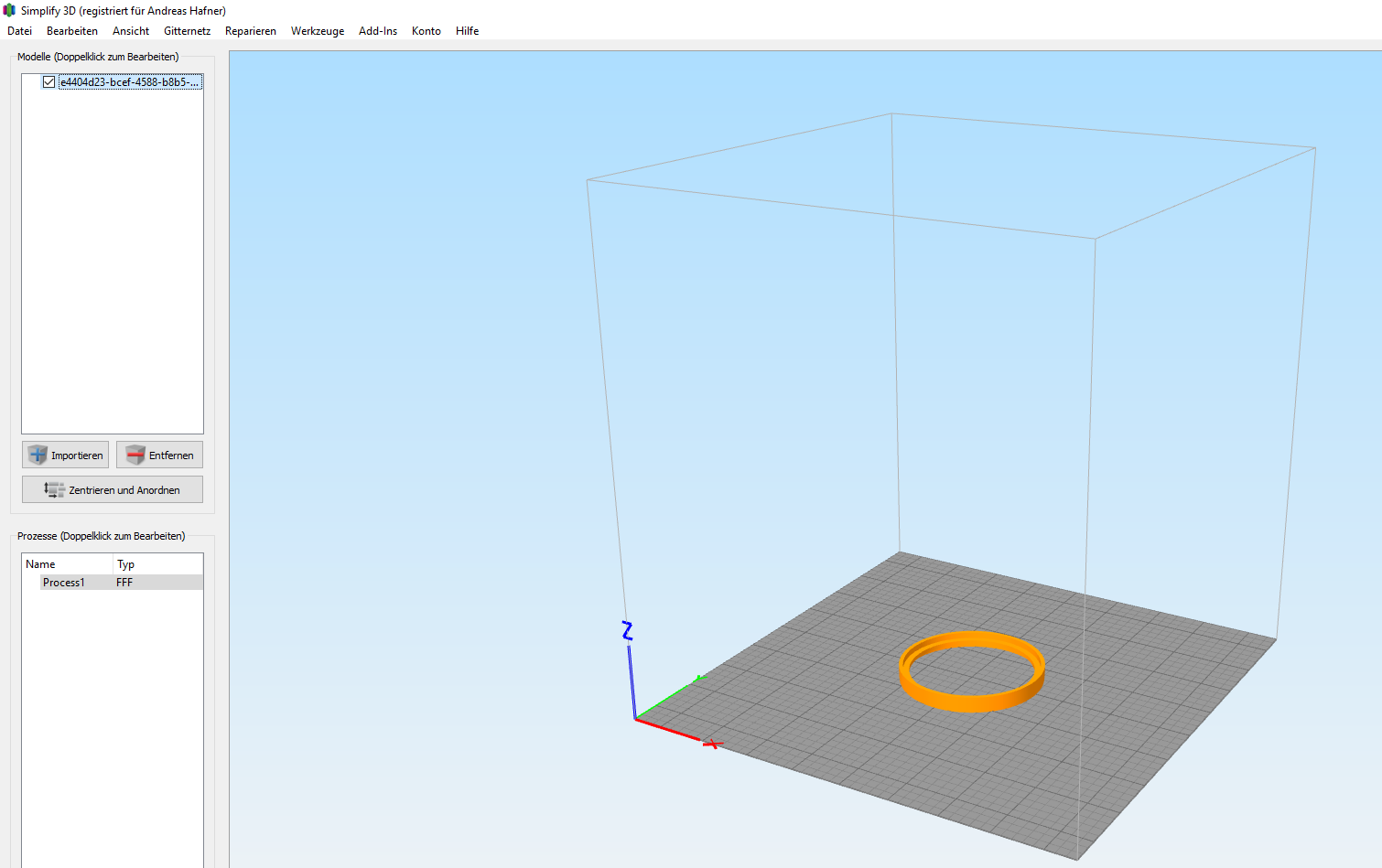 Export STL to 3D Print Tool (in my case simplify3d and cura