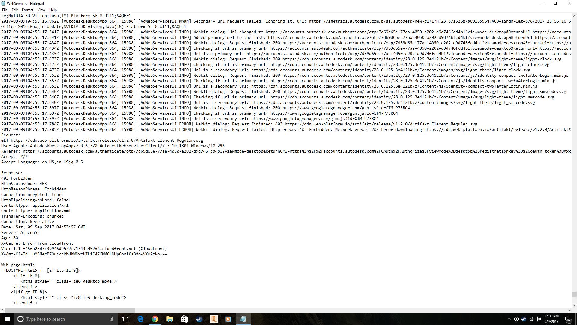 解決済み fusion 360 error 403 forbidden autodesk community