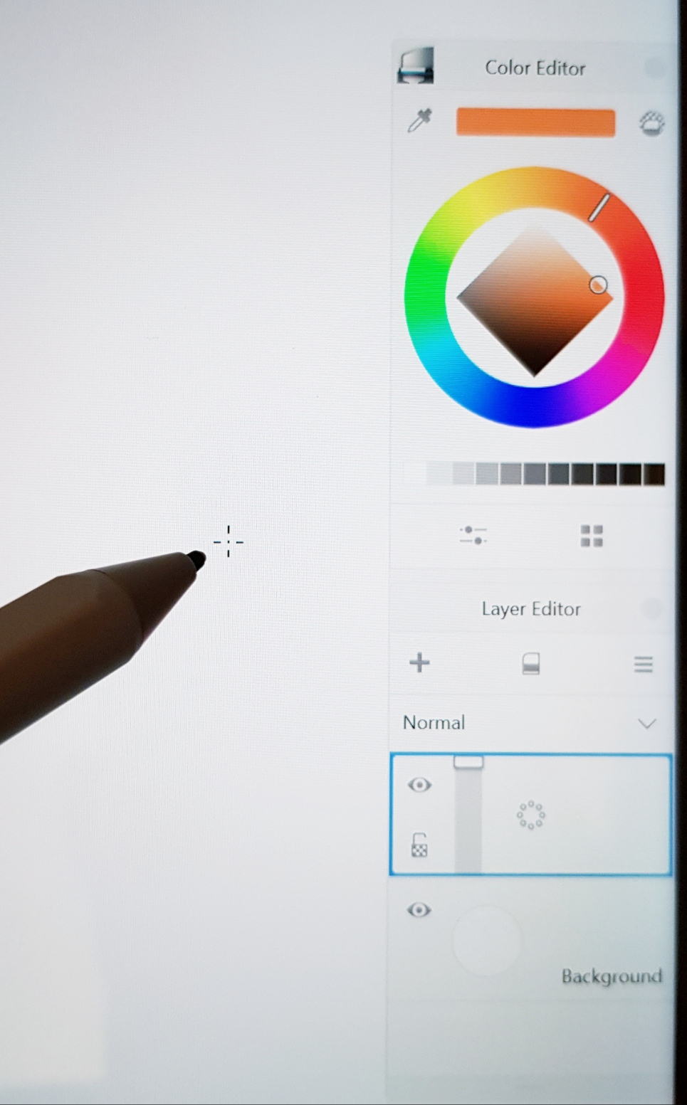 How to turn off crosshair visibility on Autodesk Sketchbook