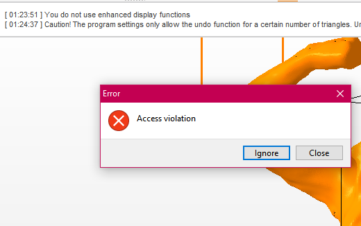 Solved: Access Violation errors in Netfabb 2017 and 2018
