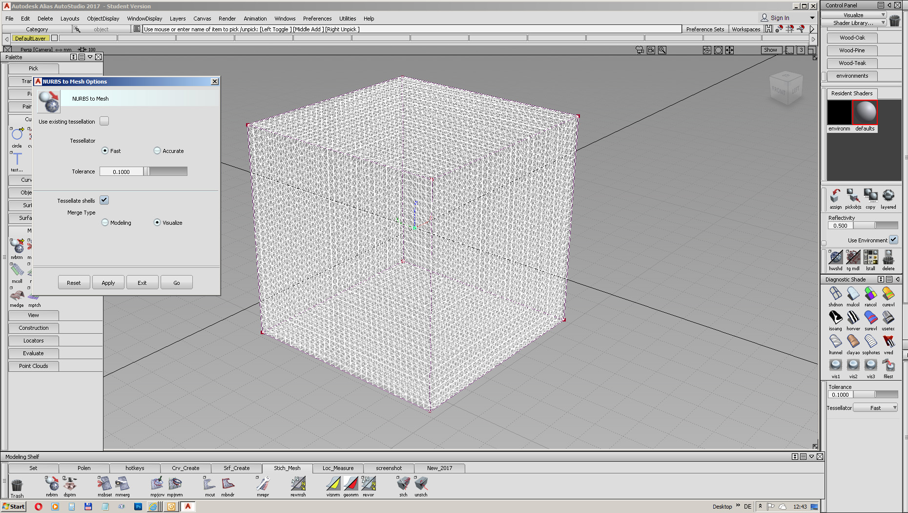 nurbs to mesh different in 2016 and 2017 - Autodesk