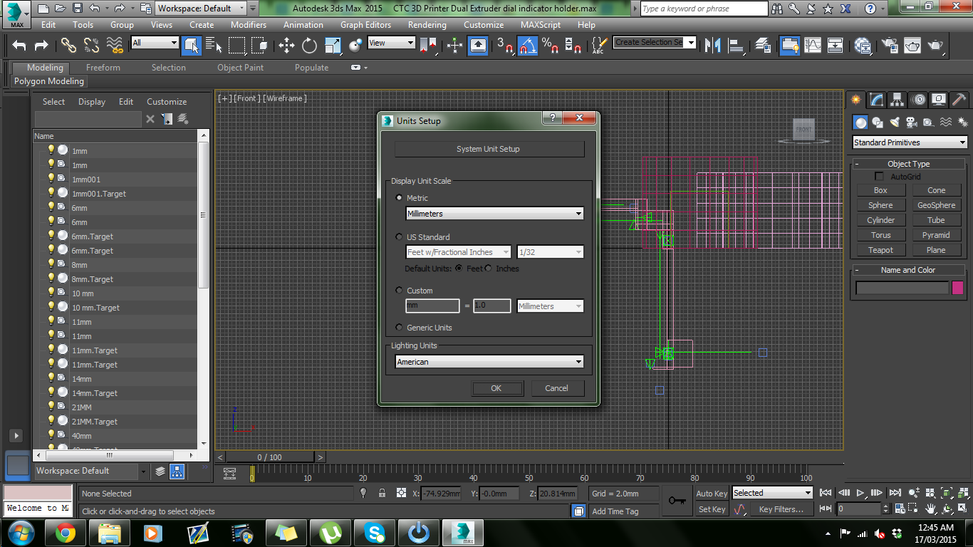 3DS Max, Makerbot desktop and sizing and scaling issues - Autodesk