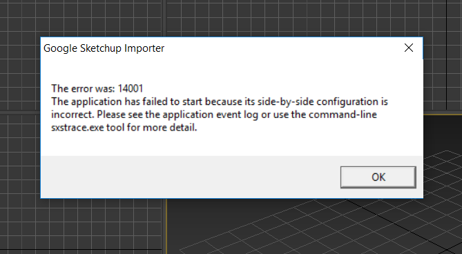 solved sketchup import error 14001 autodesk community 3ds maxtags (4) tags 14001 · error 14001