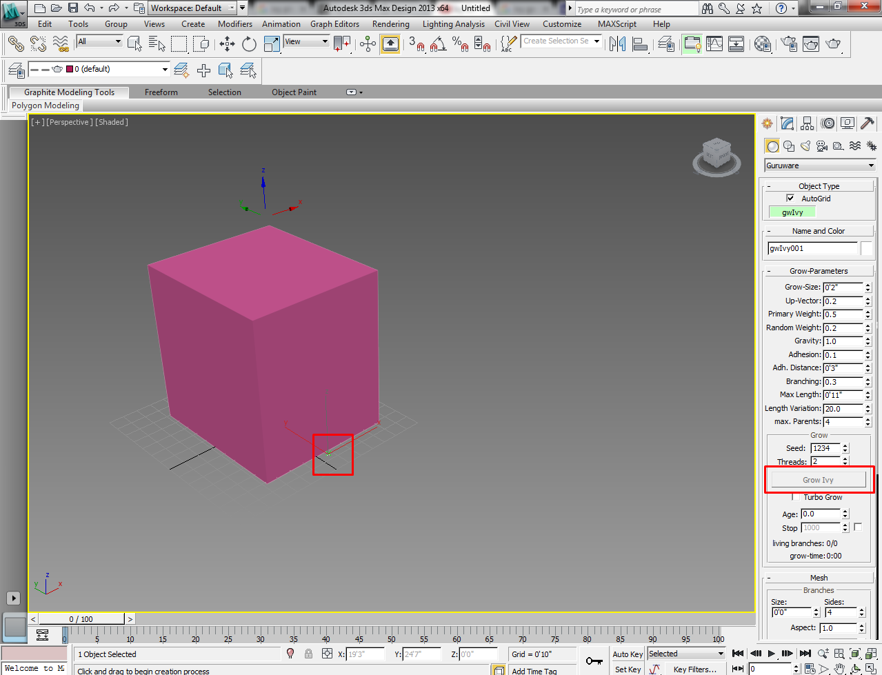 Ivy Generator plugin (and others) - Autodesk Community- 3ds Max