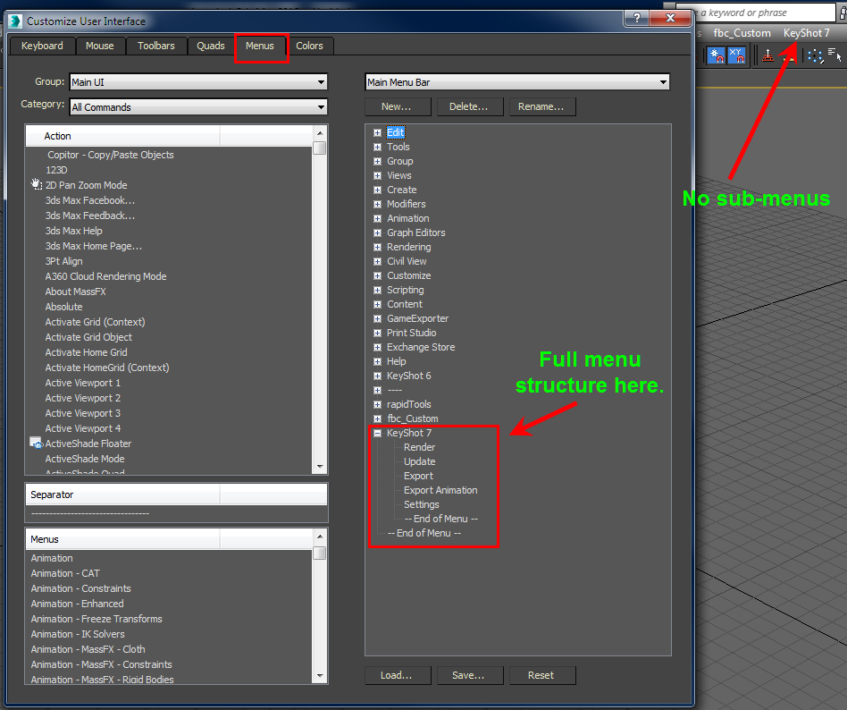 Solved: keyshot 6 plugin button doesn´t appear on 3dmax - Autodesk