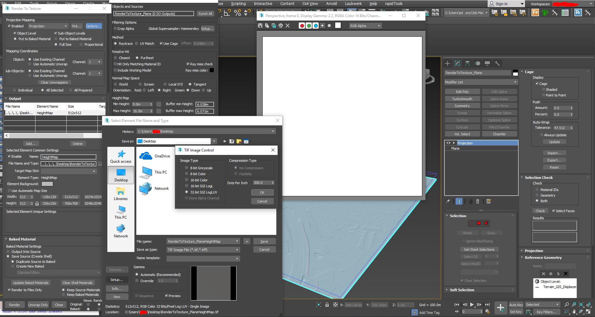 Solved: Render to texture - Heightmap: grey texture