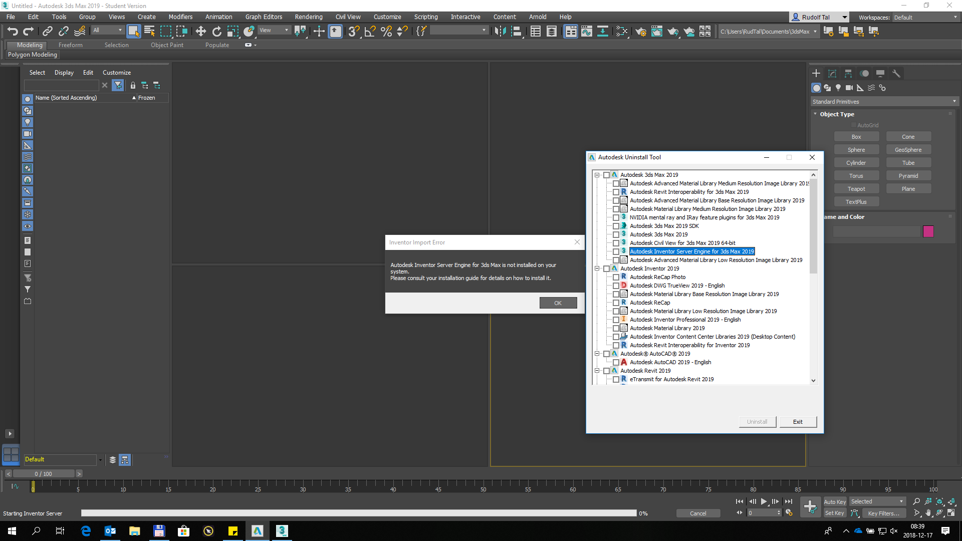 Autodesk Inventor Server Engine for 3ds max - Autodesk Community