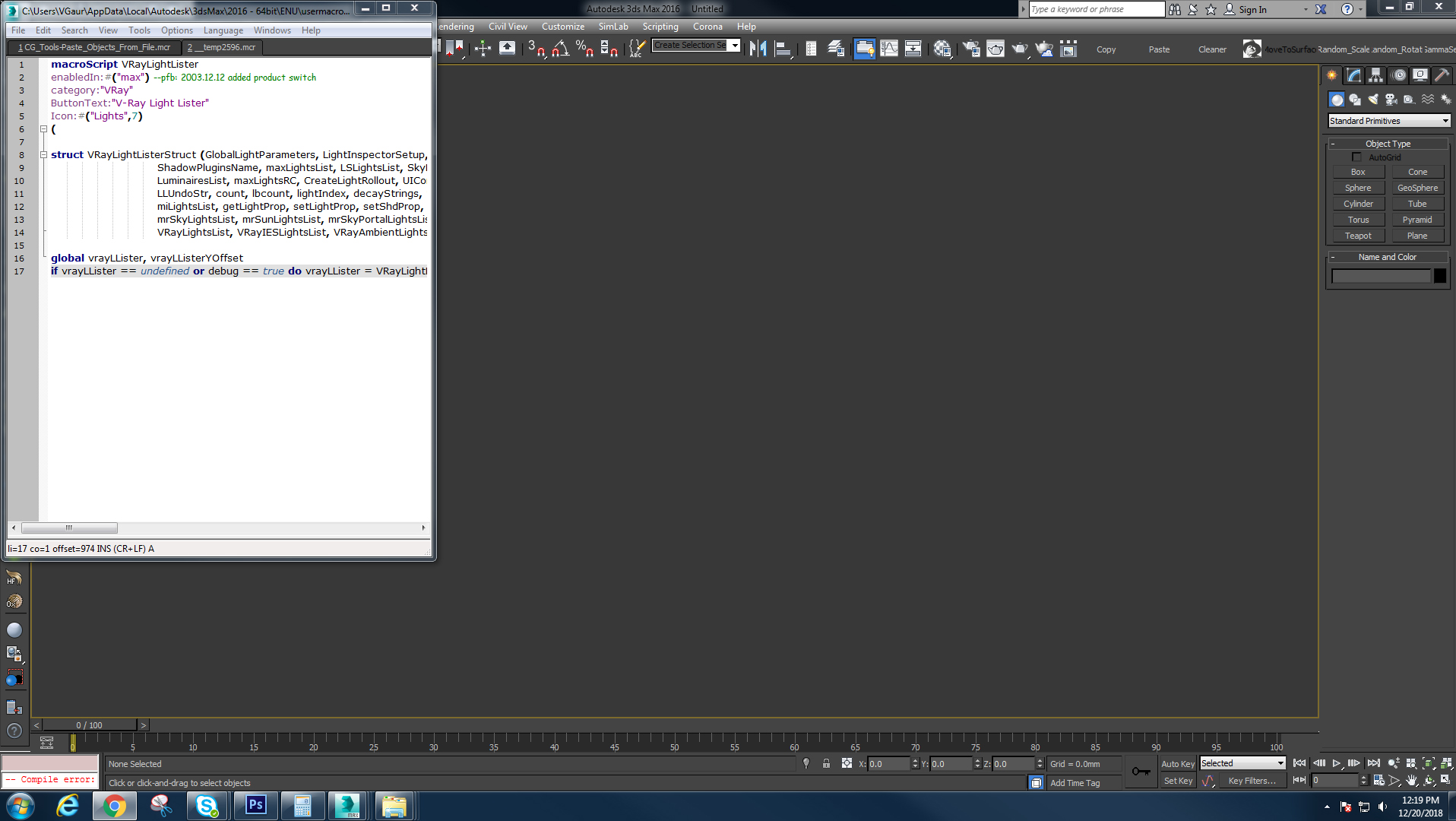 Compiling Error - Autodesk Community- 3ds Max