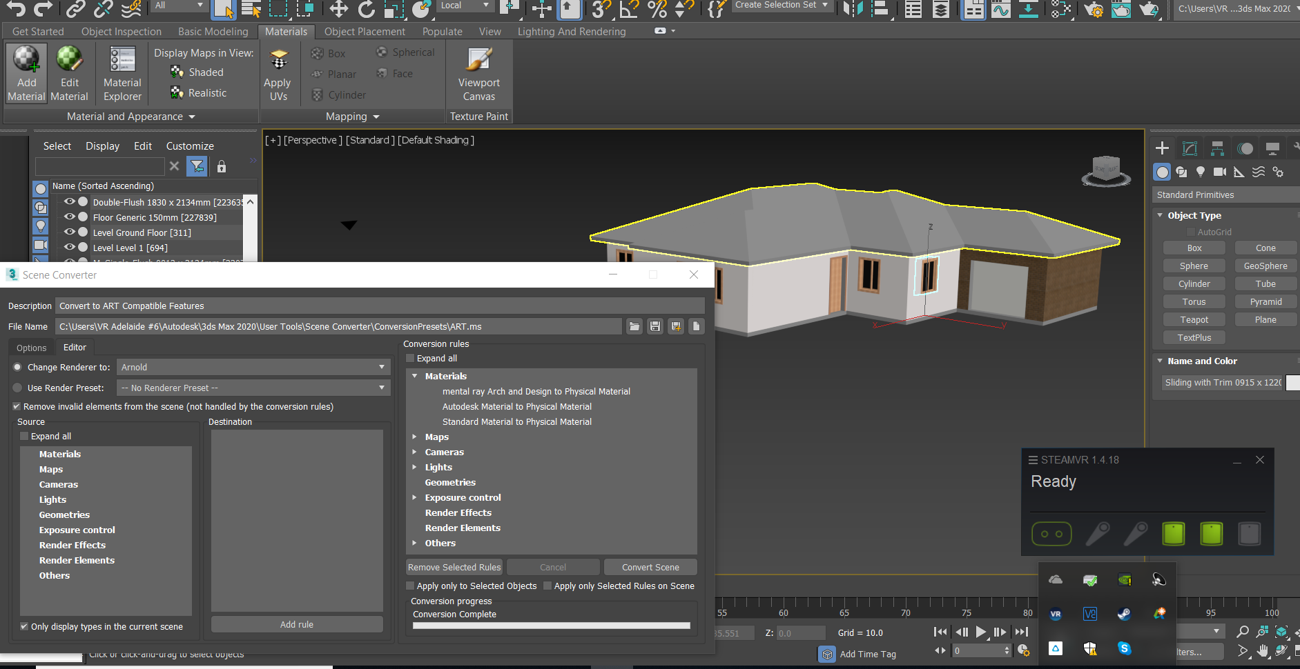 3ds Max import to Interactive doesn't show materials
