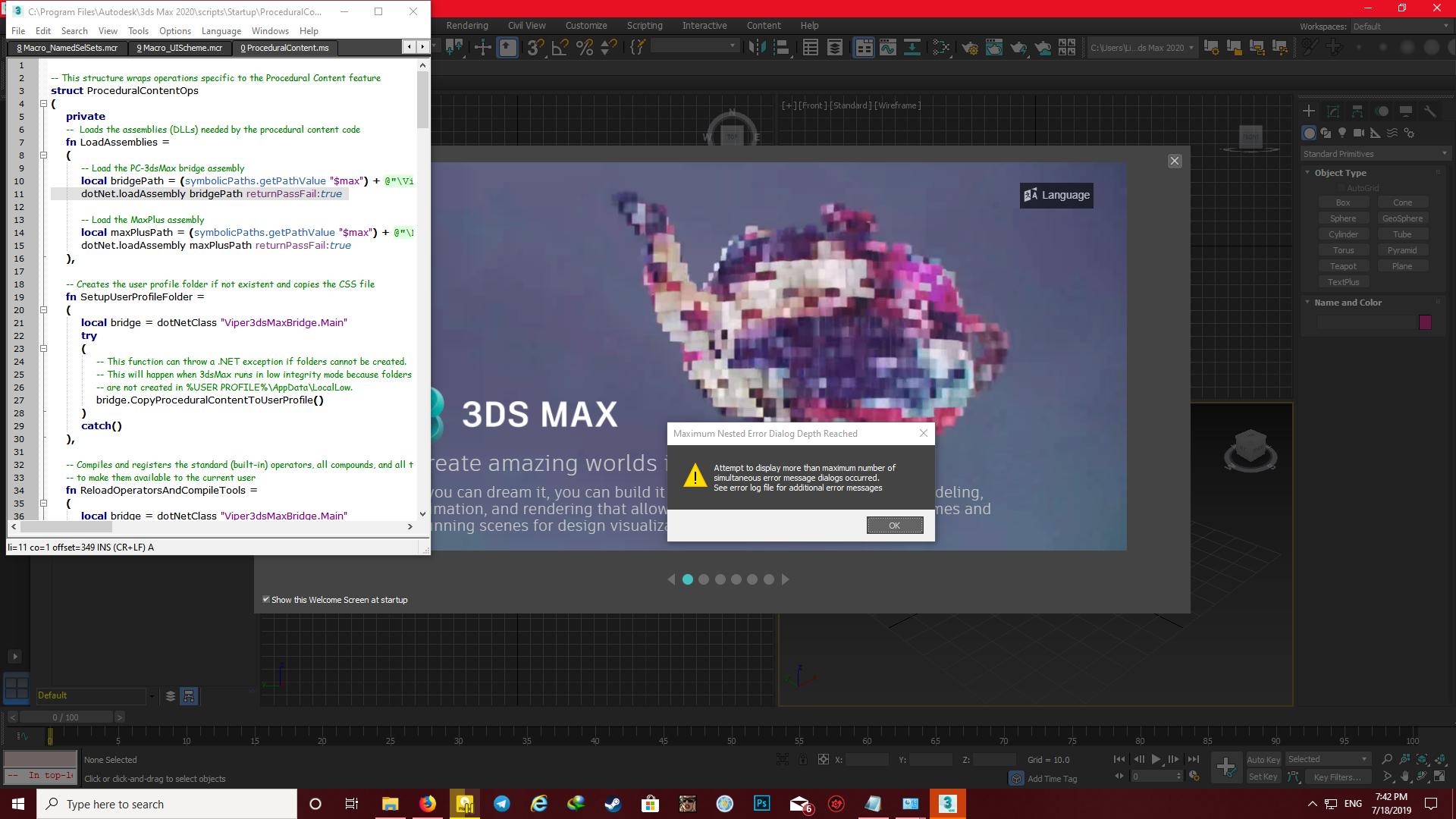 3ds max 2020 maxscript auto load script error - Autodesk Community