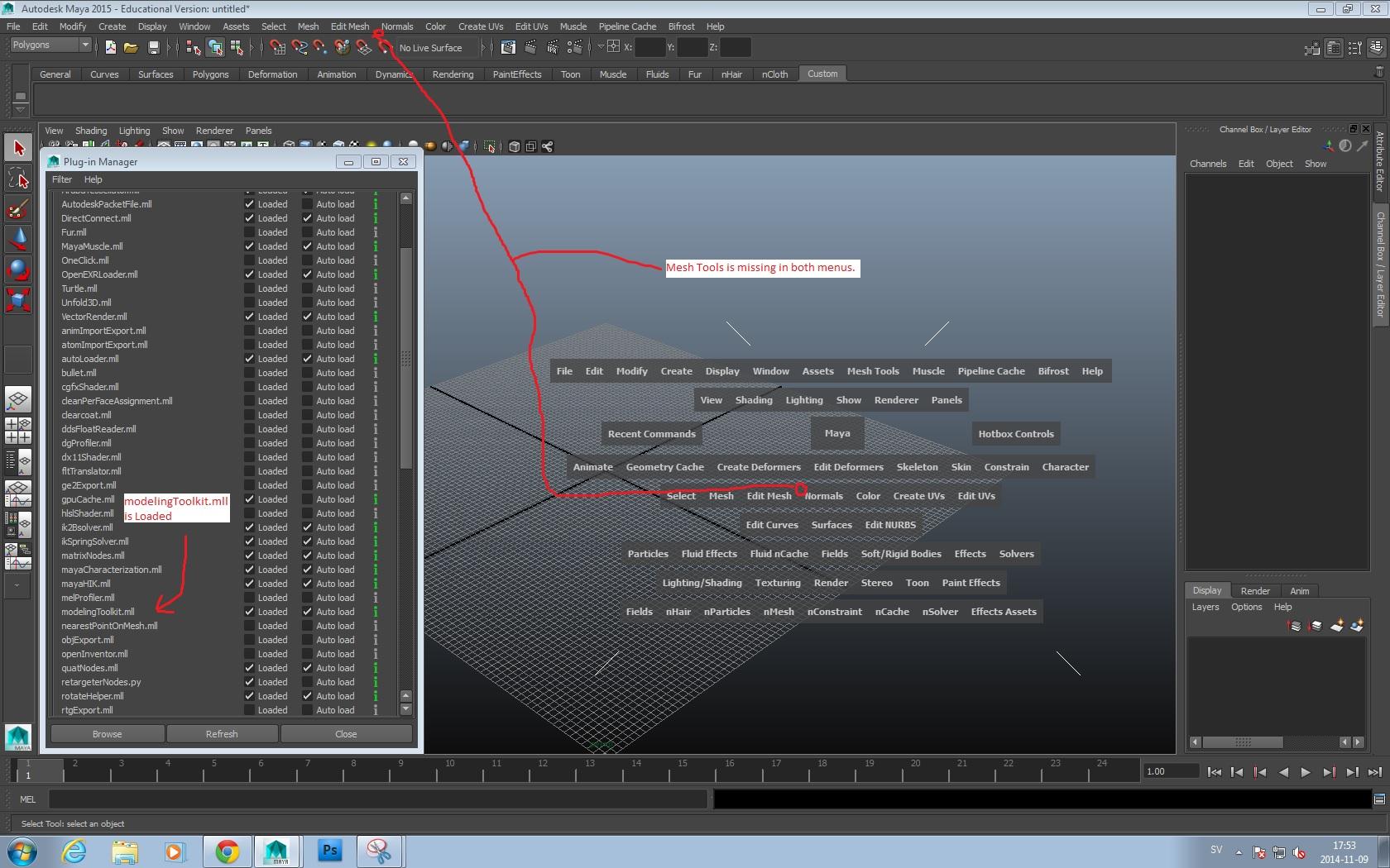 Solved: Mesh Tools dropdown menu missing    - Autodesk Community- Maya