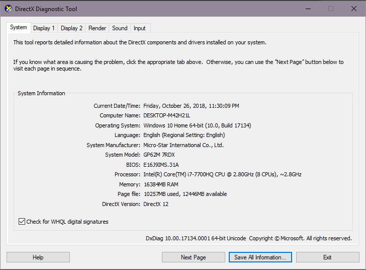 Fatal Error when starts  DirectX 11 / 12  Maya 2018 - Autodesk