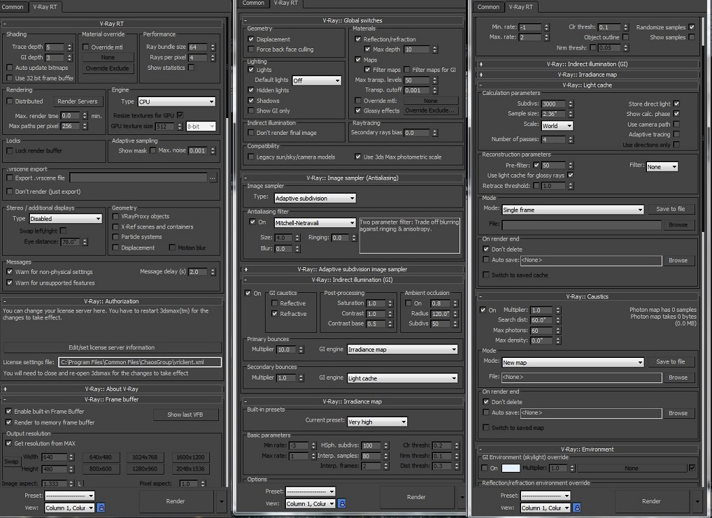 Vray 3.0 for 3ds max