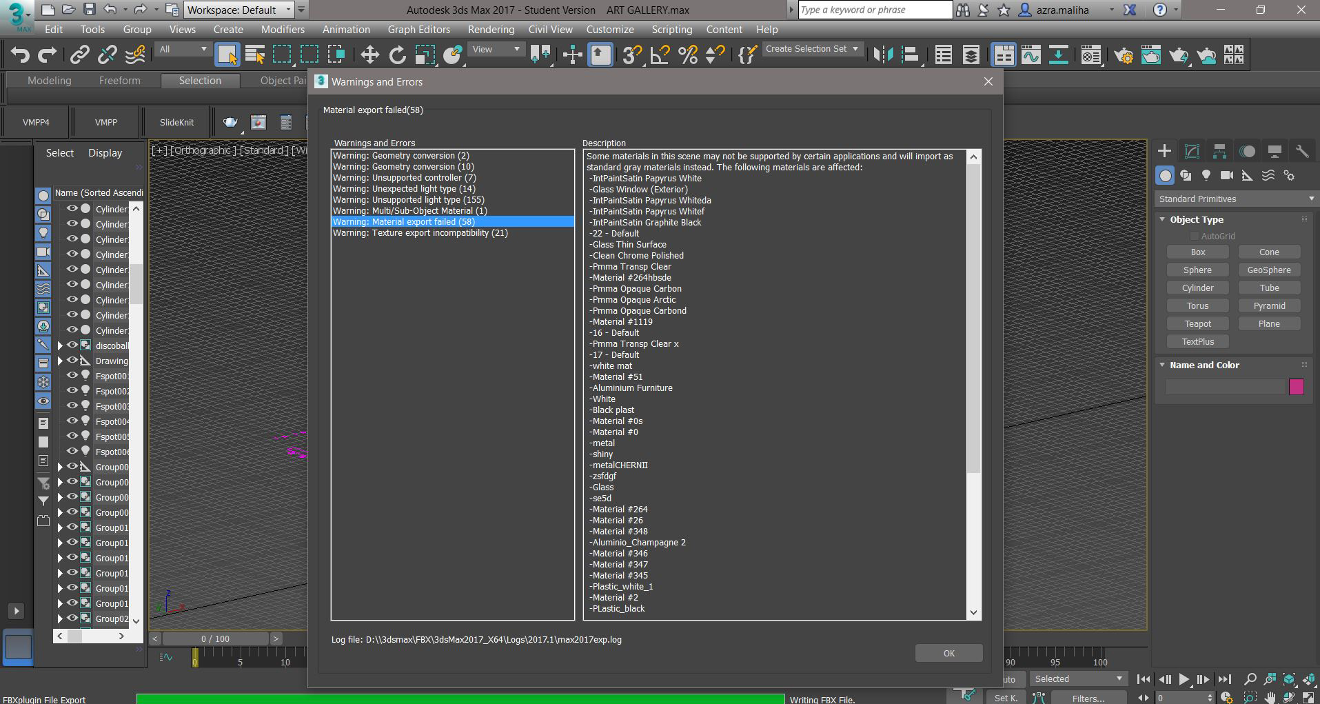 Solved: issues with exporting to FBX file for Lumion 6 - Autodesk