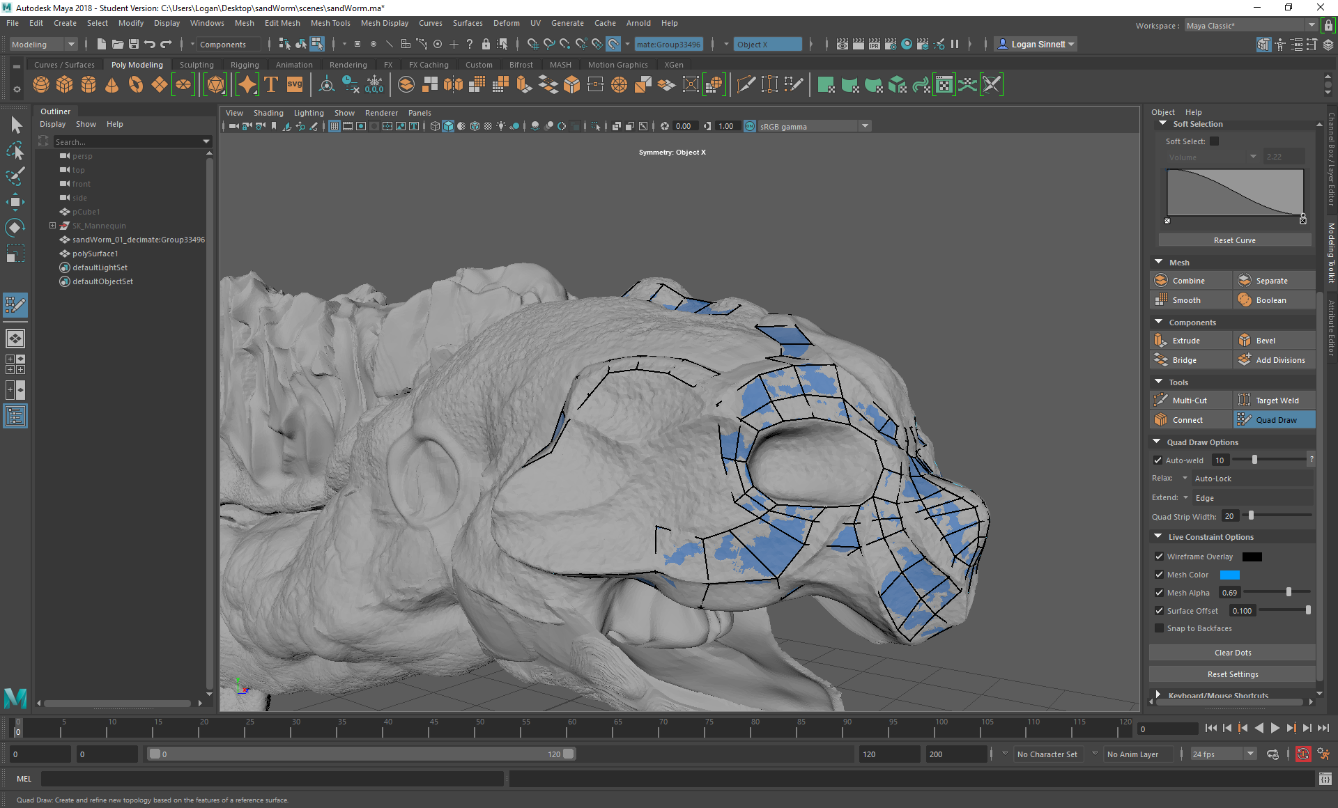 Quad Draw Offset Does Not Seem To Be Working Autodesk Community Maya