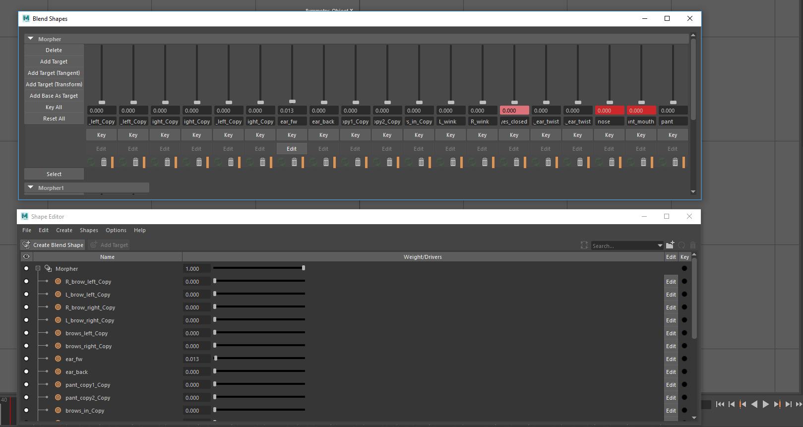 Solved: Blend Shape window VS Shape Editor - Autodesk