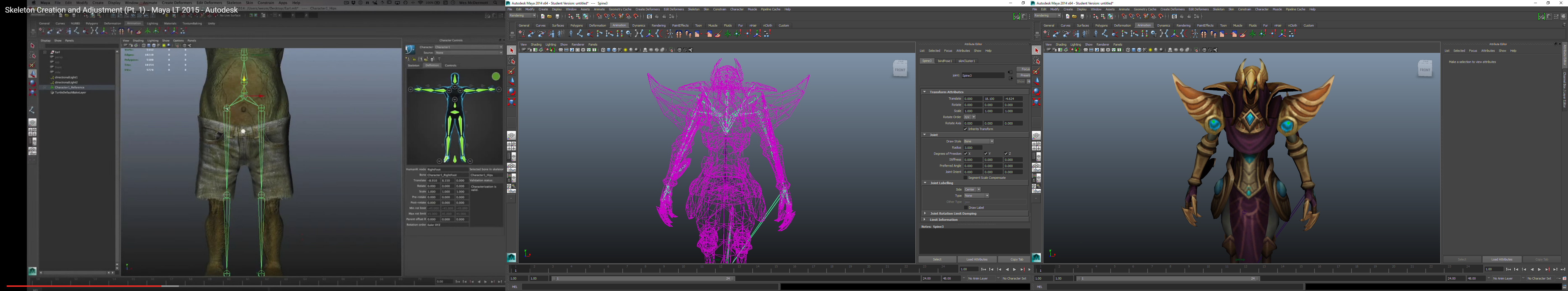 Maya Skeleton Cant see it through model - Autodesk Community