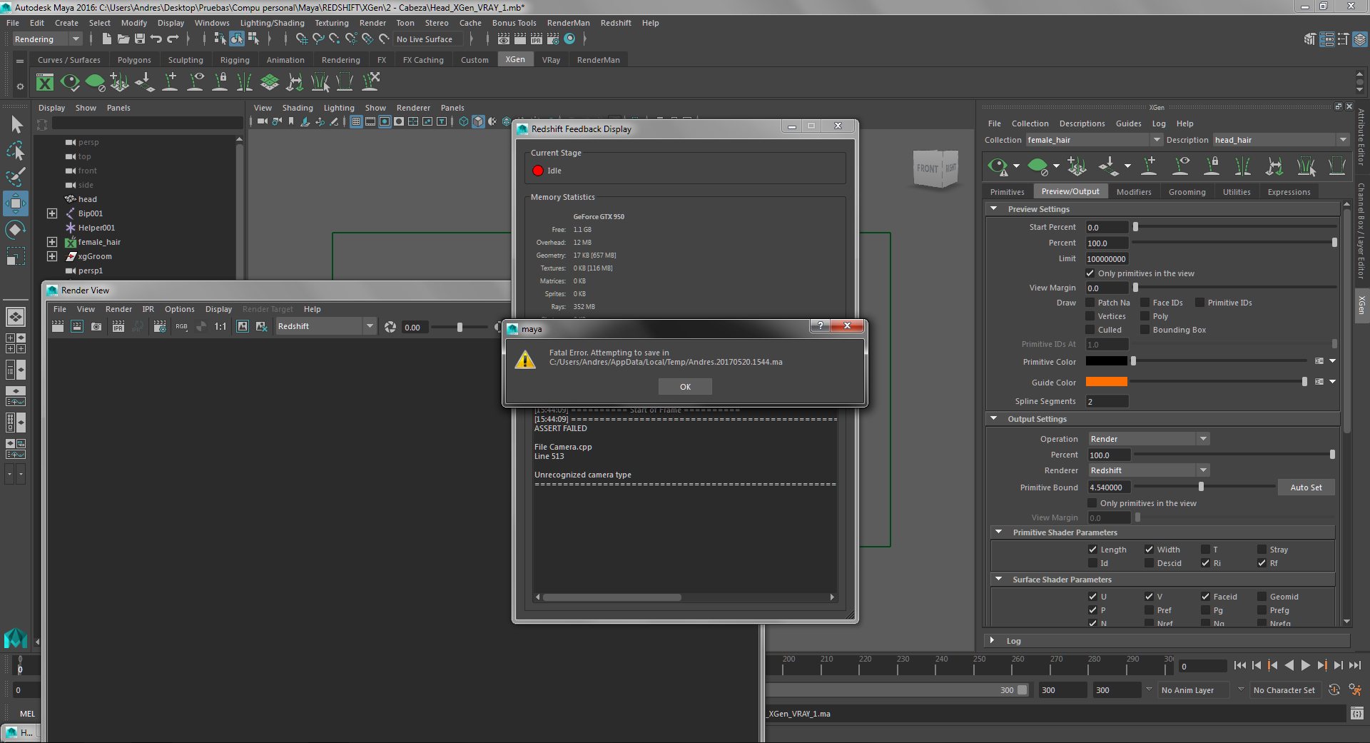 Maya crash with Redshift - Autodesk Community- Maya