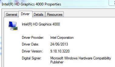 Install intel hd graphics 4000