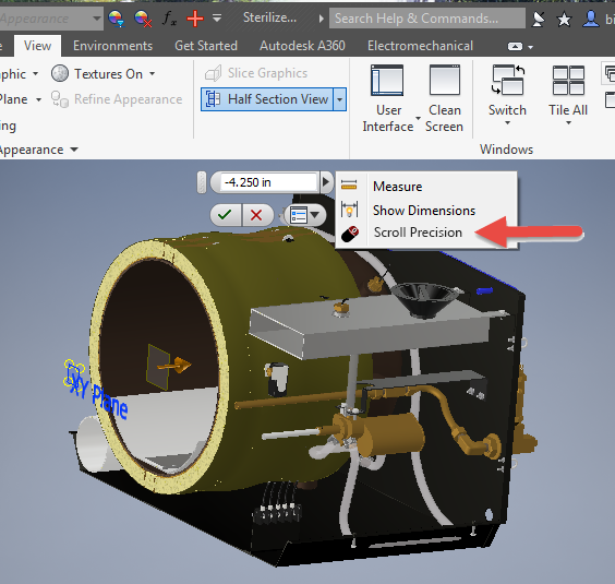 Scroll Wheel Value edit for View > Section View - Autodesk