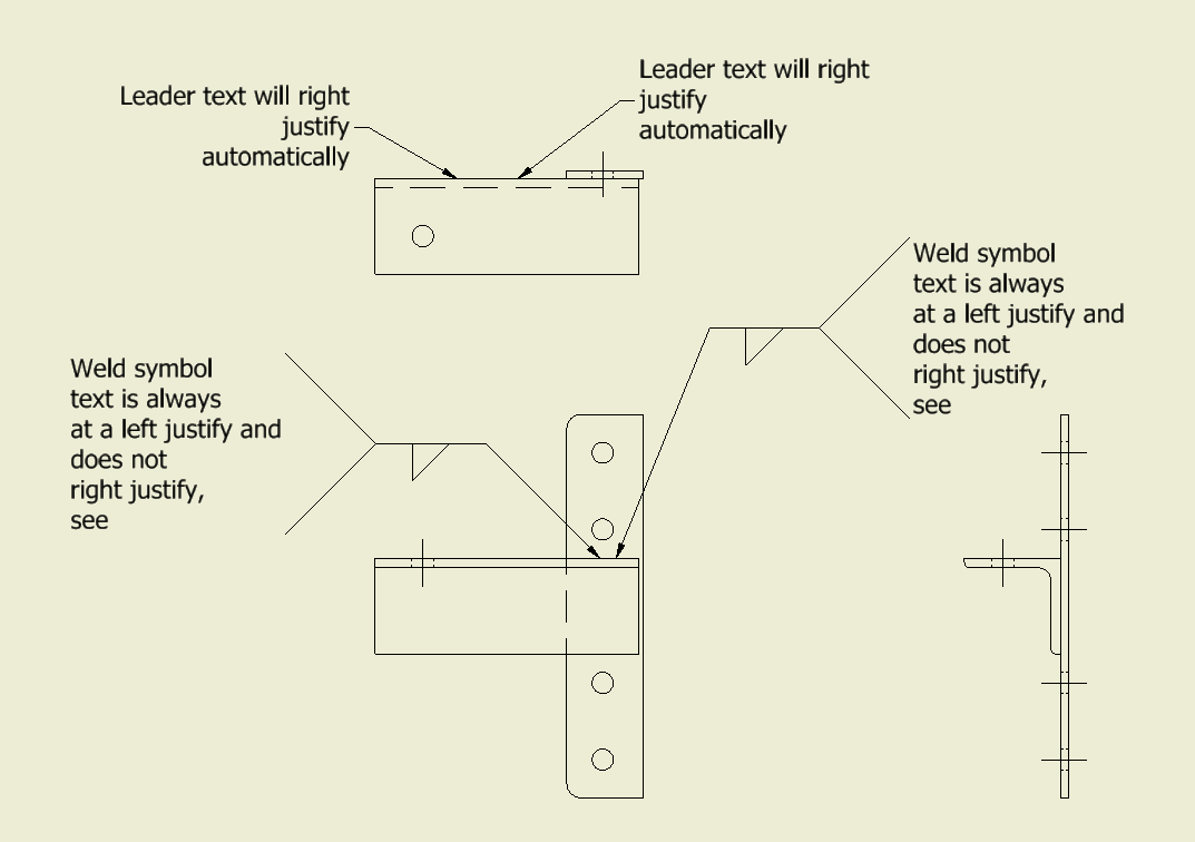 Weld Symbol On Drawings To Automatically Right Justify Autodesk