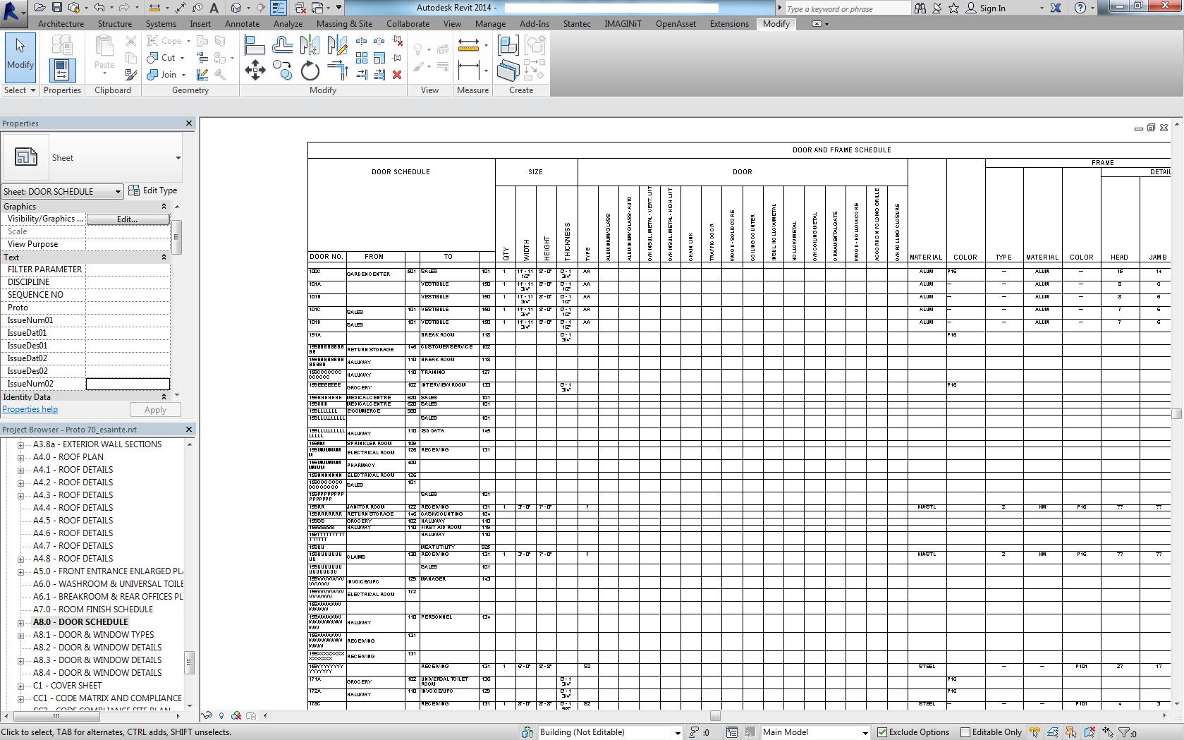 Door Schedule Header Formatting - Autodesk Community- Revit Products