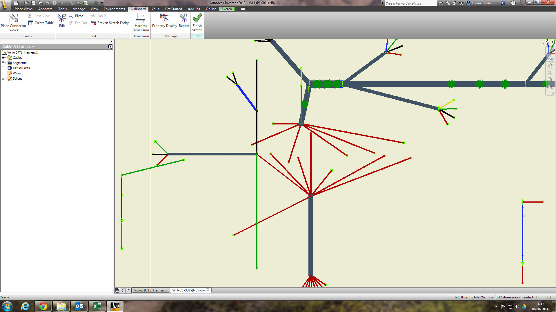 drawing displaying incorrectly inventor cable harness nailboard rh forums autodesk com cable harness drawing symbols inventor cable and harness drawing