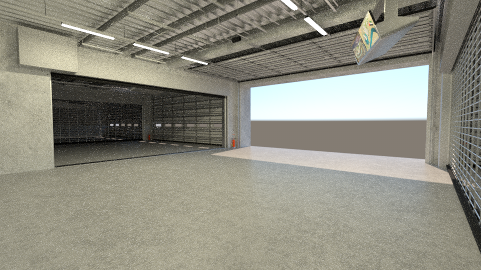 Free garage scene with skylight environment for rendering for Garage building software free download