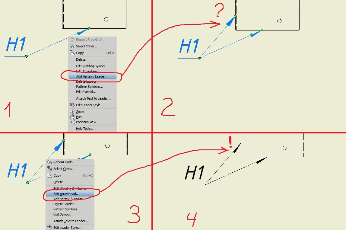 Add Vertexleader For Welding In Drawing Autodesk Community