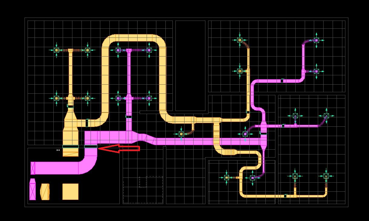 WRG-4669] Hvac Duct Drawing In Autocad