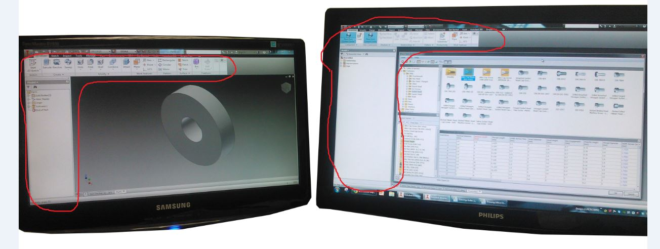 dual monitor setup autodesk community inventor products