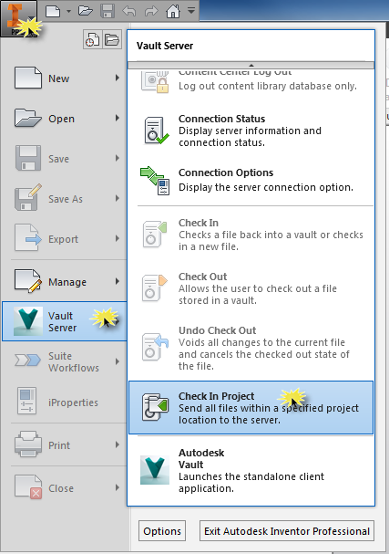 Best Practice Inventor Project File Vault Setup