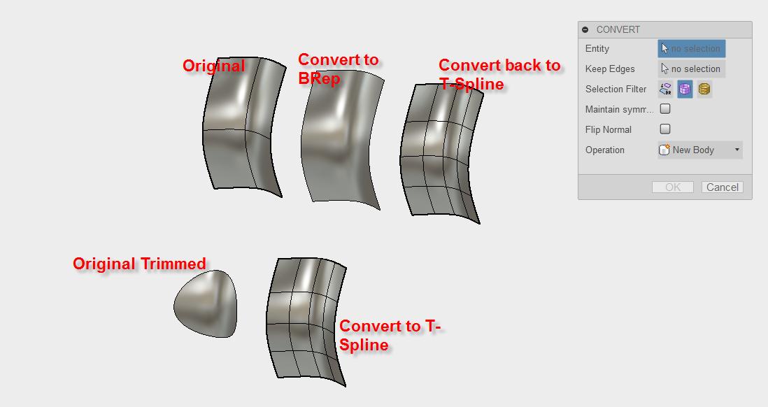 Solved Brep To T Spline Autodesk Community Fusion 360