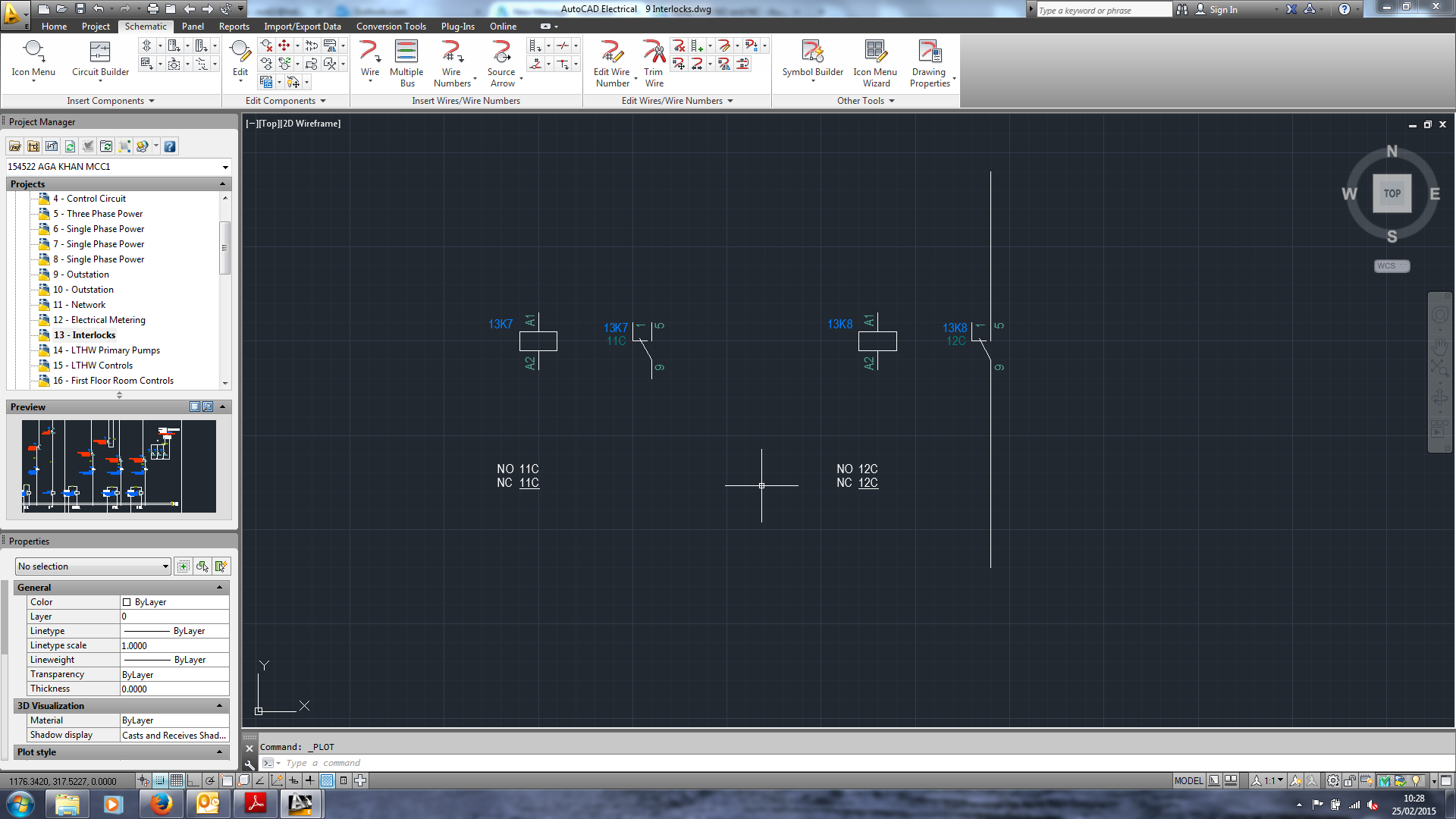 Relay Contact Referencing Issue Autodesk Community Autocad Electrical Panel As You Can See By Default It Says Nc 11c No When I Havent Even Attached A Cable The On Right Also 12c But Have