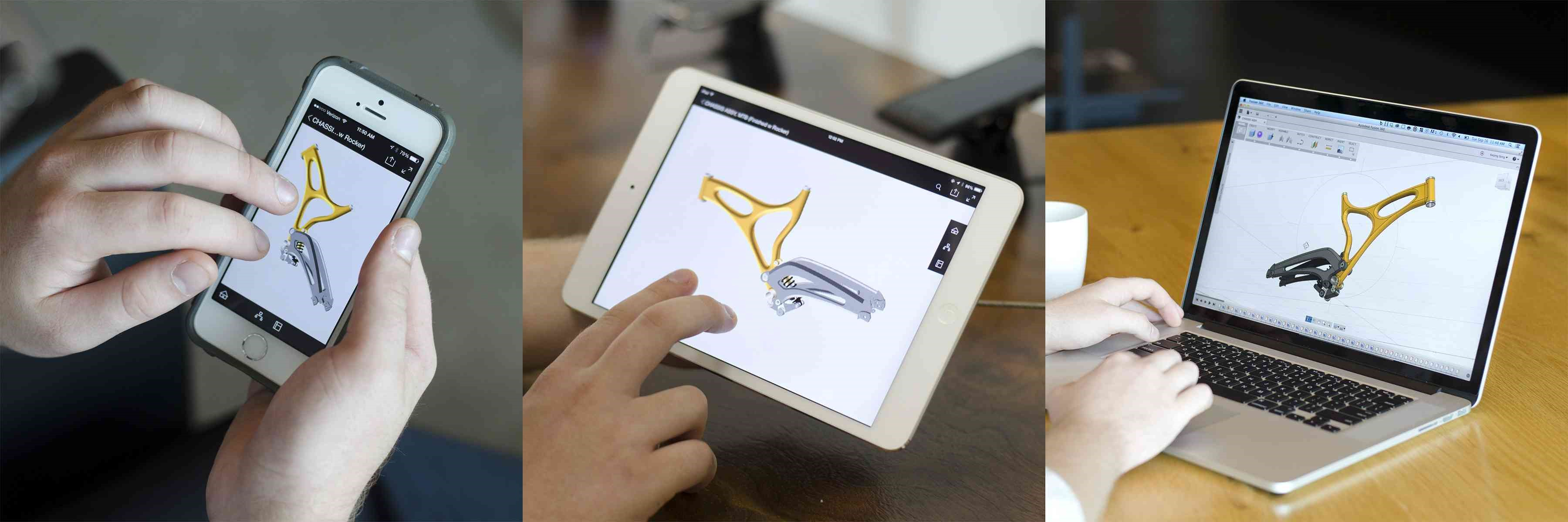 Figure 2: Fusion 360 can be accessed from multiple devices