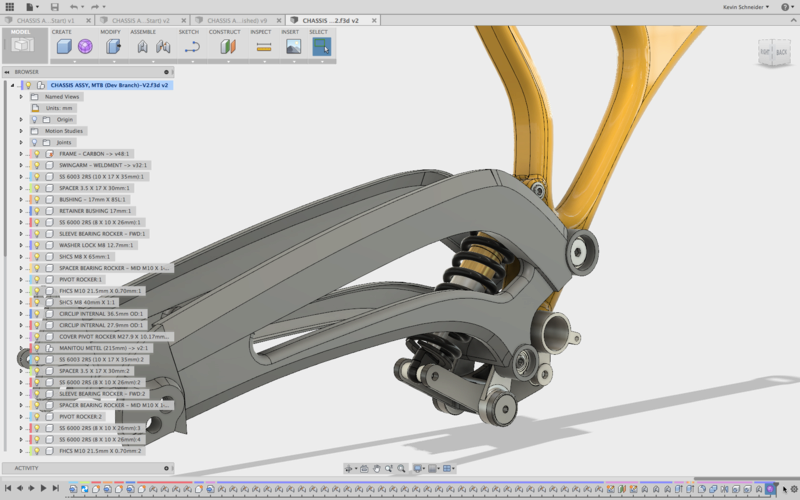 Figure 4: assembly modeling in Fusion 360