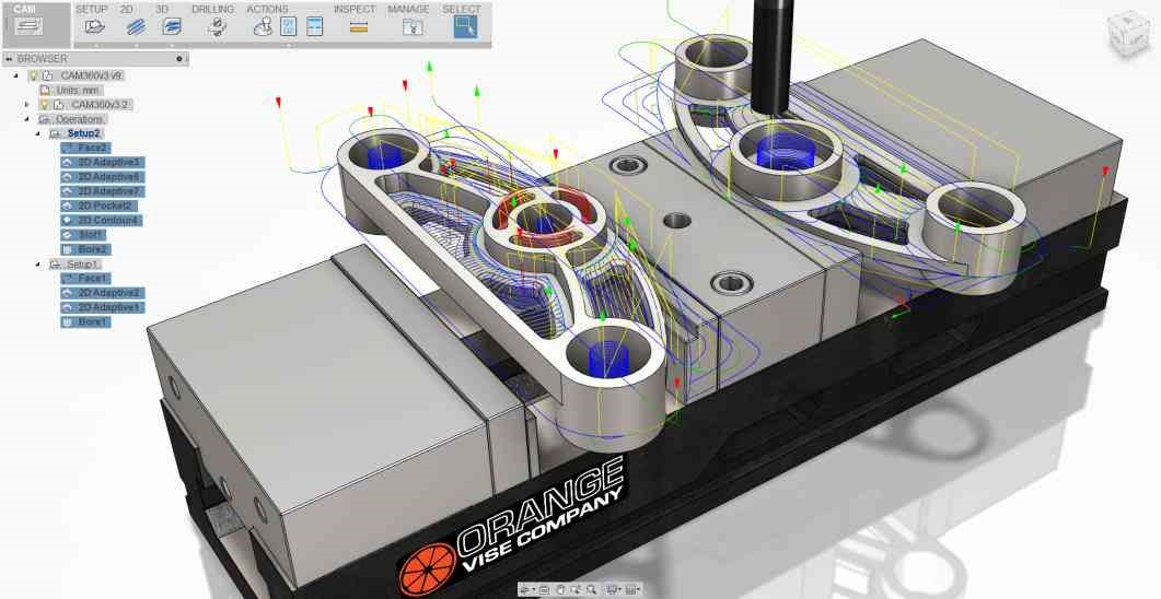Figure 7: CAM capabilities in Fusion 360