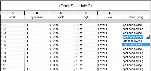 door swing on schedule.jpg  sc 1 st  Autodesk forums & Door schedule - door swing direction - Autodesk Community- Revit ...