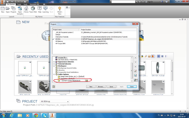 save content center files in project folder by default autodesk rh forums autodesk com Autodesk Inventor Drawings Autodesk Inventor Projects
