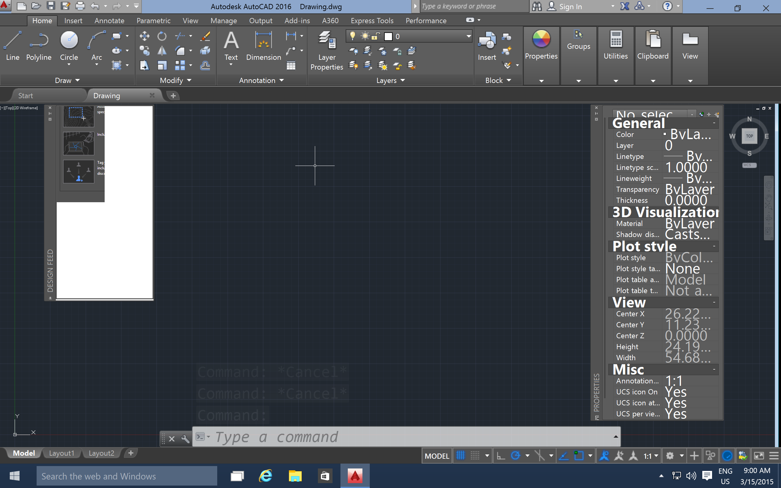 how to open tool palette in autocad 2016