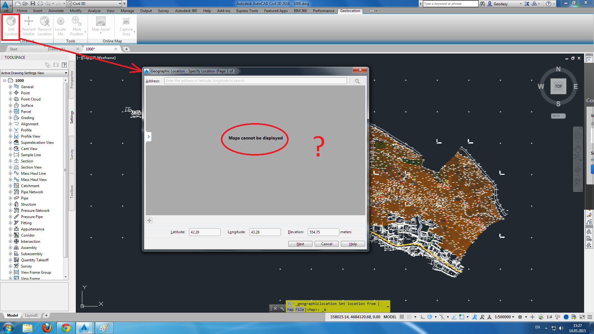 Solved Civil 3d Maps Cannot Be Displayed Autodesk Community Civil 3d