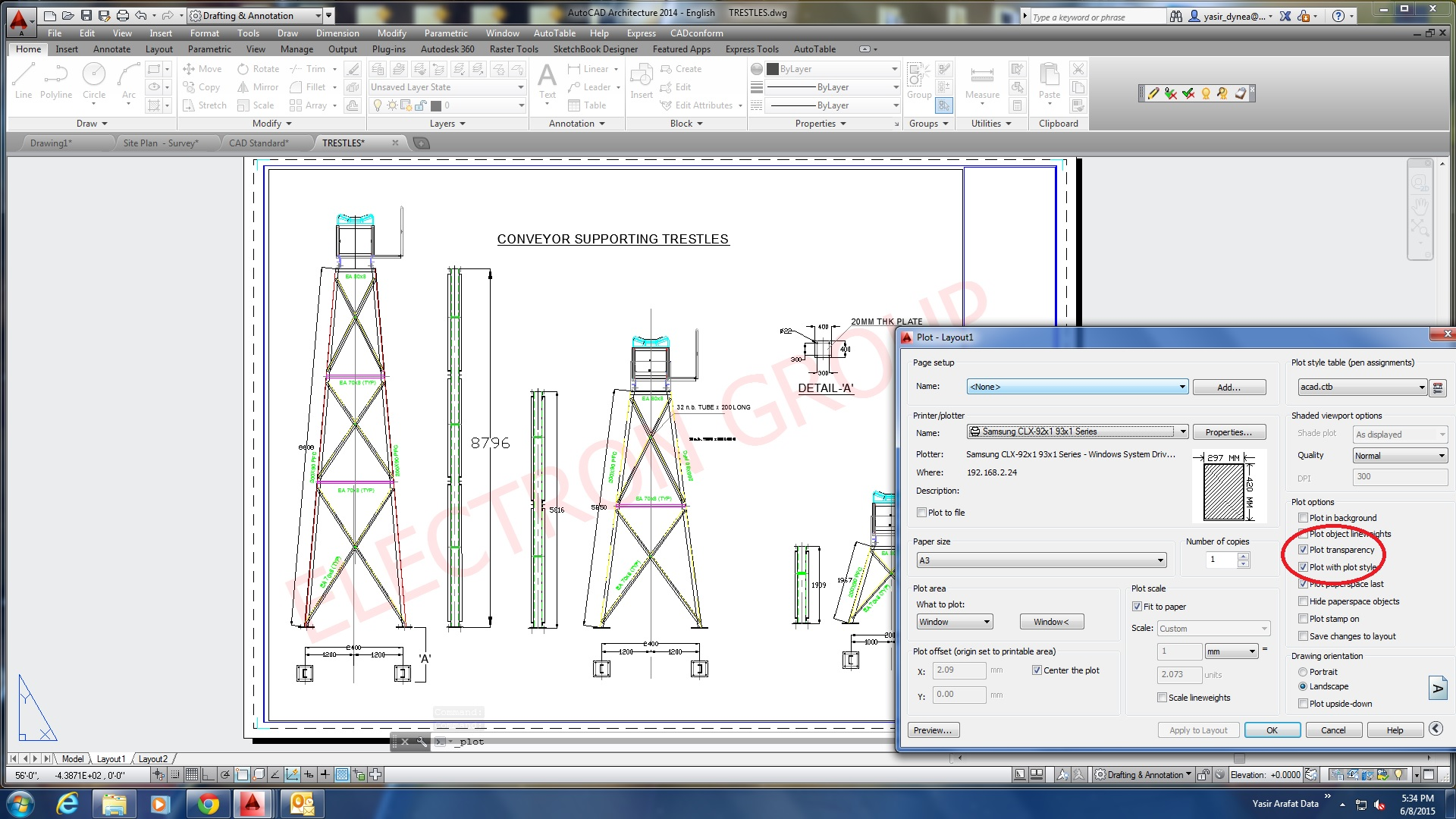how to create layout in autocad 2016