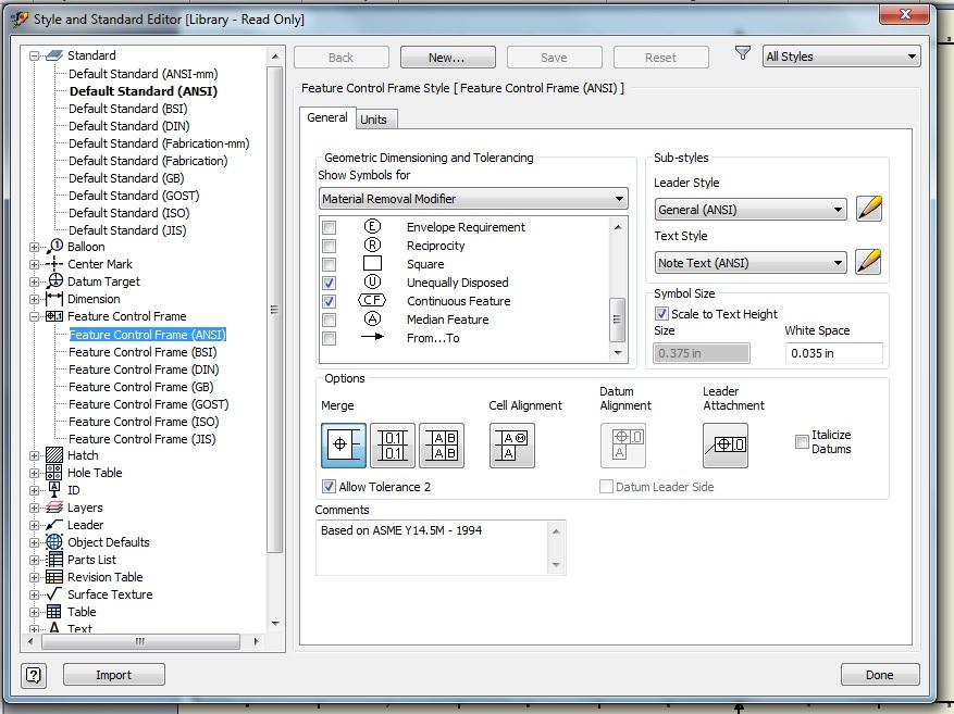 Add Asme Y145 2009 As An Option Autodesk Community